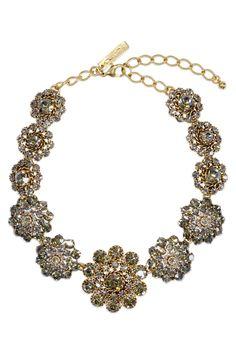 Oscar de la Renta Baroque Bejeweled Necklace from RentTheRunway.com, $125