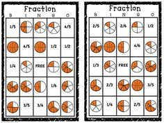 Basketball Fractions!  Master identifying fractional parts - anchor charts, task cards, and  games!  Easy to use - Grades 1-3