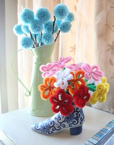 chenille stems (pipe cleaners) flowers craft