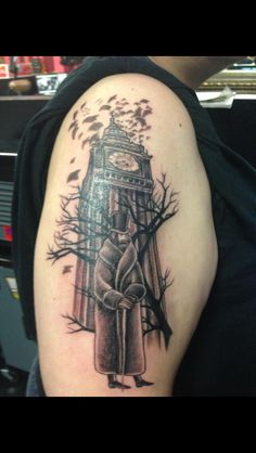 The gentleman is taken from Edward Gorey's art the clock is from something else. My Saucy Jack Tattoo by Aimee Surrat