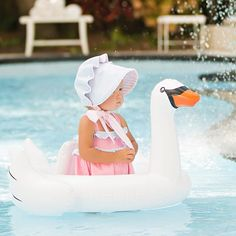 Complete the look! Baby swan float now available online! Shop now! #swanfloat…