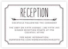 wedding reception card wording - Google Search | Wedding Reception ...