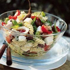 Recette salade de pâtes à la niçoise - Cuisine et Vins de France