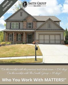 """""""On the market with the previous real estate team = 156 days On the market with The Smith Group = 14 days! Who You Work With MATTERS!"""""""