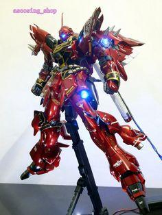 MG 1 / 100MG Gundam Sinanju renovation painted PVC LED with - Yahoo! Auctions