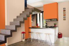 Resultado de imagen para decoracion interiores con tonos naranjas