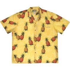 Designer Clothes, Shoes & Bags for Women Hawaiian Print Shirts, Vintage Hawaiian Shirts, Vintage Shirts, Vintage Tops, Beige Shirt, Beige Top, Casual Looks, Men Casual, Polyvore