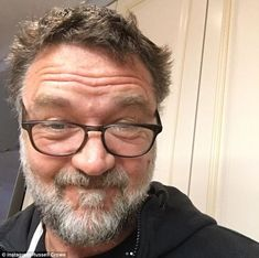 He's in a hairy situation! Fans were titillated by the self-deprecating gag, with one commenting: 'Ha..the scruffy lost dog look'