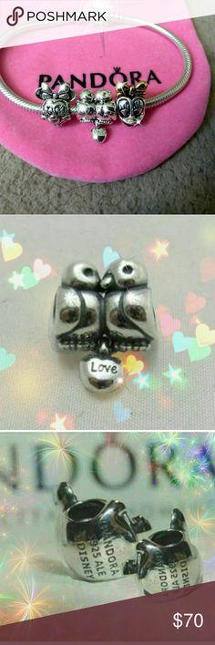 3 pcs authentic Pandora Disney charms set Pandora 791033 Love Birds Charm  . Pandora Minnie mouse 791587 and Pandora Daisy dusk charm beads Pandora Jewelry Bracelets