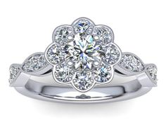 View our range of over 200 fully cutomisable diamond engagement ring designs. Choose your style from halo, solitaire, vintage, contemporary and pave settings. Floral Engagement Ring, Designer Engagement Rings, Diamond Engagement Rings, One Ring, Halo, Heart Ring, Jewels, Camo Stuff, Vintage