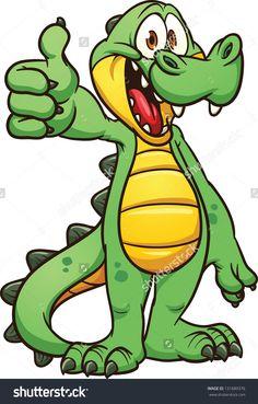alligator cartoon | Clip Art Cartoon of a Silly Alligator ...