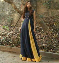 Indian Gowns, Indian Wear, Indian Outfits, Oriental Fashion, Ethnic Fashion, Indian Fashion, Anarkali Dress, Schneider, Indian Designer Wear