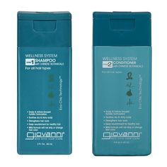 Giovanni Wellness System Travel Shampoo and Conditioner Bundle With Chinese Botanicals, Ginseng, Aloe Vera and Mulberry, Energizes Hair and Scalp, Soothe Dry Scalp and Strengthens Roots, 2 oz. each >>> Check out this great image  : Travel Skincare