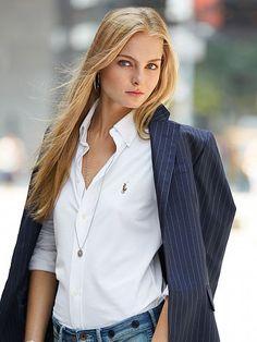 Pinstriped Wool Jacket - Polo Ralph Lauren Jackets - RalphLauren.com