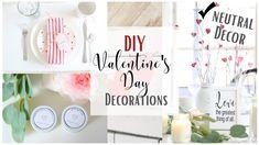 DIY Valentine's day Decor ~ Dollar Tree Decor ~ Valentine's Day Mantel ~...