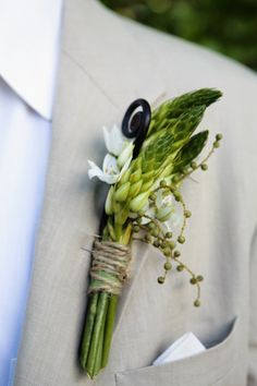 asparagus boutonniere - Google Search