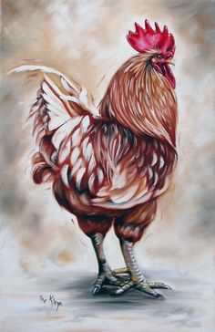 Rooster Painting - Rooster 18 Of 10 by Ilse Kleyn