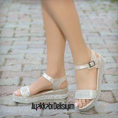 Taşlı Sandalet #sandals