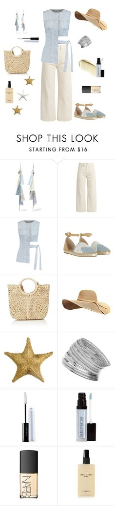 """Beach Vibes"" by loveleelove ❤ liked on Polyvore featuring Chan Luu, Brock Collection, Acne Studios, GUESS, Barneys New York, Miss Selfridge, Illamasqua, Laura Mercier, NARS Cosmetics and Bobbi Brown Cosmetics"