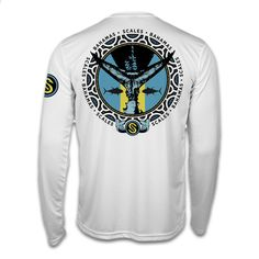The Bahamas Tuna Tail Performance shirt has an island inspired full back design which features a Yellowfin Tuna tail graphic influenced by a Bahamas flag. The front of the shirt features a SCALES Bahamas logo along with the SCALES hooks logo on the left shoulder.  This lightweight and comfortable performance shirt offers UPF 50+ protection for those long days on the water.    UPF 50+ Solar Protection   Slim Fit Design   Lightweight   Quick Drying   Anti Microbial   Moisture wicking…