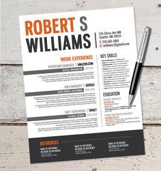 The Robert Resume Design - Graphic Design - Marketing - Sales - Real Estate - Customer Service - Medical - Teaching