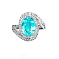 George Pragnell ring featuring a Brazilian Paraiba tourmaline Tourmaline Jewelry, Tourmaline Gemstone, Titanic Jewelry, Rare Gems, Jewelry For Her, Jewelry Photography, Luxury Jewelry, Diamond Rings, Gemstones
