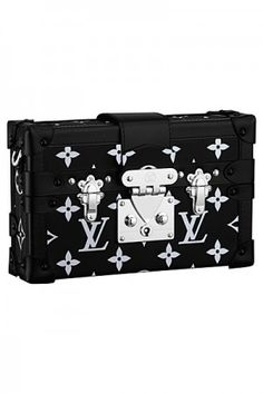 Louis Vuitton Black/White Monogram Canvas Petite Malle Bag - Spring 2015