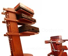 Arne Oostveen meubelontwerper meubelmakerij audiomeubel zwevende schappen rvs spanschroef