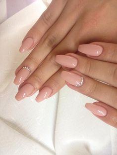 Salmon gel Nails- Lachs gel Nagel unghie in gel Salmon - # beautycosmetic Blush Pink Nails, Pink Acrylic Nails, Gem Nails, Diamond Nails, Nails With Diamonds, Jewel Nails, Ongles Beiges, Nagellack Design, Nagel Gel