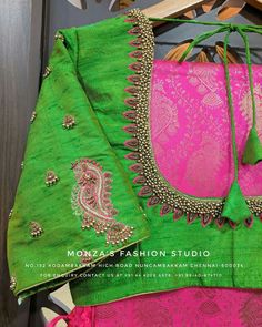 Global market Leader in Ethnic World, we serve End 2 End Customizable Indian Dreams That Reflect with Amazing Handwork & Unique Zardosi Art by Expert Workers. Simple Blouse Designs, Silk Saree Blouse Designs, Bridal Blouse Designs, Blouse Patterns, Maggam Work Designs, Back Neck Designs, Blouse Models, Aari Work Blouse, Embroidery Designs