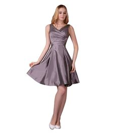 Melantha V-Neck Bridesmaid Dress Homecoming Dress Prom Dresses for Juniors *** Remarkable product available now. : Bridesmaid Dresses