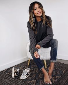 """JULIE SARIÑANA on Instagram: """"One of my all-time favorite SJ classics- the Daria sweatshirt... now on sale! ❤ @shop_sincerelyjules www.shopsincerelyjules.com"""""""
