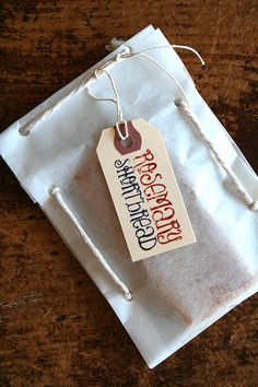 Rosemary Shortbread + Cute Parchment Paper Packages..Mmmmm … shortbread. These treats would be perfect with a cup of tea in the afternoon, but are delightful any time of the day really. ..