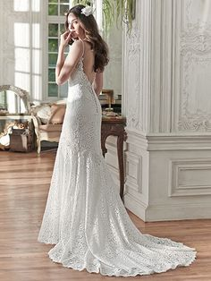 Paigely Wedding Dress by Maggie Sottero   back