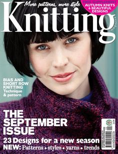 brand new issue. Knitting Magazine, pattern and article for knitters Knitting Designs, Knitting Patterns Free, Knit Patterns, Free Knitting, Knitting Projects, Crochet Book Cover, Crochet Books, Knit Crochet, Vogue Knitting