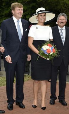 King Willem-Alexander of the Netherlands and Queen Maxima are pictured while leaving the AUDI eGas research facility on May 26, 2014 in Werlte, Germany.