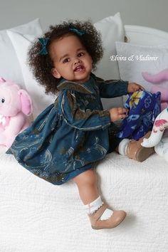 Adele Reborn Vinyl Toddler Doll Kit by Ping Lau Reborn Toddler Girl, Reborn Baby Boy Dolls, Newborn Baby Dolls, Reborn Toddlers For Sale, Big Baby Dolls, Real Life Baby Dolls, Black Baby Dolls, Custom Reborn Dolls, Reborn Babypuppen