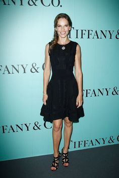 Pin for Later: Nobody Twinkled Like These Stars Last Night Hilary Swank Hilary Swank at Tiffany & Co.'s Paris flagship opening on the Champs-Élysées.