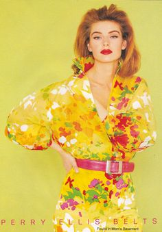 Vintage ads for floral fashions from the Floral Fashion, Vintage Fashion, Fashion Design, Vintage Ads, Vintage Looks, 80s And 90s Fashion, Fashion Outfits, Cheap Toms Shoes, Perry Ellis
