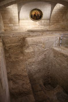 Holy Land – Prayer and Reflections on Vocations in Cana and Nazareth by Fr. Ed Riley [Picture: Excavations of the home of Joseph and Mary underneath the Church of St. Joseph, which stands beside the Basilica of the Annunciation in Nazareth.]