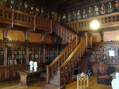 "Tsar Nicholas ll of Russia's Library at the Winter Palace. ""AL"""