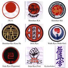 Jka Karate, Goju Ryu Karate, Karate Styles, Embroidered Badges, Cool Stickers, Mixed Martial Arts, Science Art, Chicago Cubs Logo, Samurai