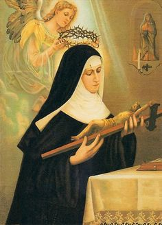 Female Saints of Catholic Church | In the convent, St. Rita's life was marked by great charity and severe ...