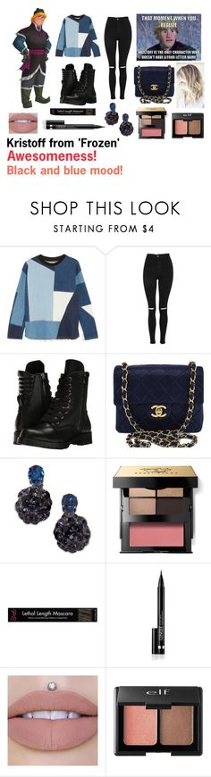 """""""For Scarlett (friend) - Scarlett's ideal wardrobe by me: Kristoff from 'Frozen' inspired!"""" by sarah-m-smith ❤ liked on Polyvore featuring Disney, Victoria, Victoria Beckham, Topshop, Capezio, Chanel, Marni, Bobbi Brown Cosmetics, Clinique and Charlotte Russe"""