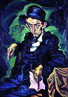 Portrait of Conrad Felixmüller - Ludwig Meidner Ludwig Meidner, Modern Art, Contemporary Art, George Grosz, Chaim Soutine, Ernst Ludwig Kirchner, Amedeo Modigliani, Best Portraits, Abstract Expressionism