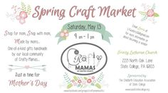 His Mercies Are New Every Morning!: Craft Market Tomorrow.