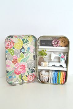 Tiny Tin Sewing Room  Me  You by TeaRoseCompany on Etsy                                                                                                                                                                                 More