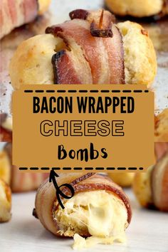 Tasty, fast, and delicious Bacon Wrapped Cheese Bombs are perfectly bite-sized. Filled with cheese, wrapped with bacon, ready to enjoy! #cheesebombs #baconwrapped Bacon Cheese Bombs, Cheese Bites, Melted Cheese, Barbecue Recipes, Bacon Recipes, Appetizer Recipes, How To Make Bacon, How To Make Cheese, Best Bacon