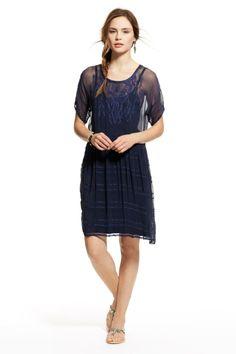 Hannah Chiffon Dress | Calypso St. Barth- Navy http://www.calypsostbarth.com/final-sale/clothing/dresses/hannah-chiffon-dress