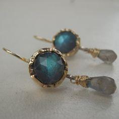Bezel Set Labradorite Dangle Earrings in 9K Solid Gold  http://www.yifat-bareket.com/store/new-design/blue-labradorite-dangle-earrings-in-9k-solid-gold.htmlSearch